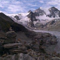 A Night Overlooking a Glacier in the Swiss Alps; Trekking to Cabane de Moiry