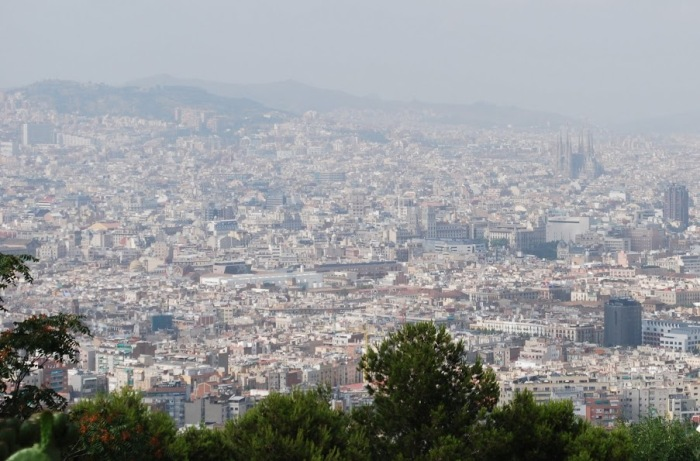 View from Montjuic hill, Barcelona