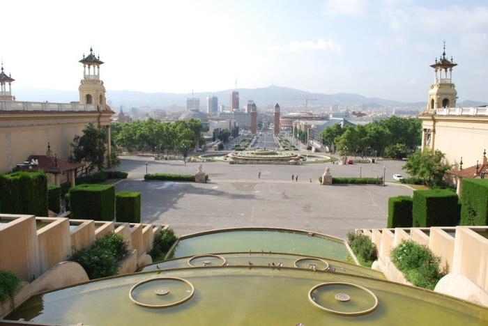 View from Palau Nacional, Montjuic Barcelona