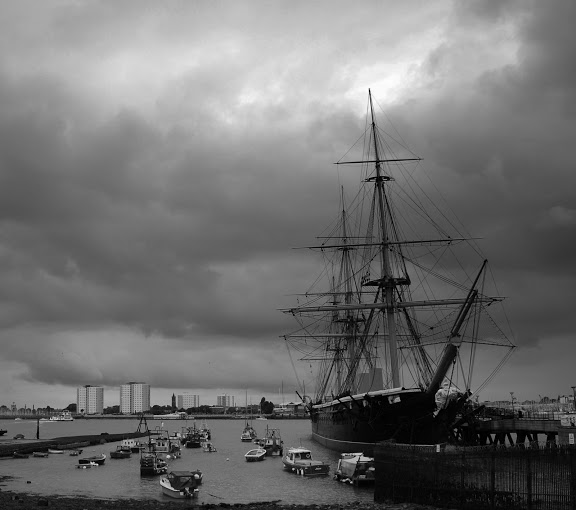 The HMS Warrior in Portsmouth Harbour
