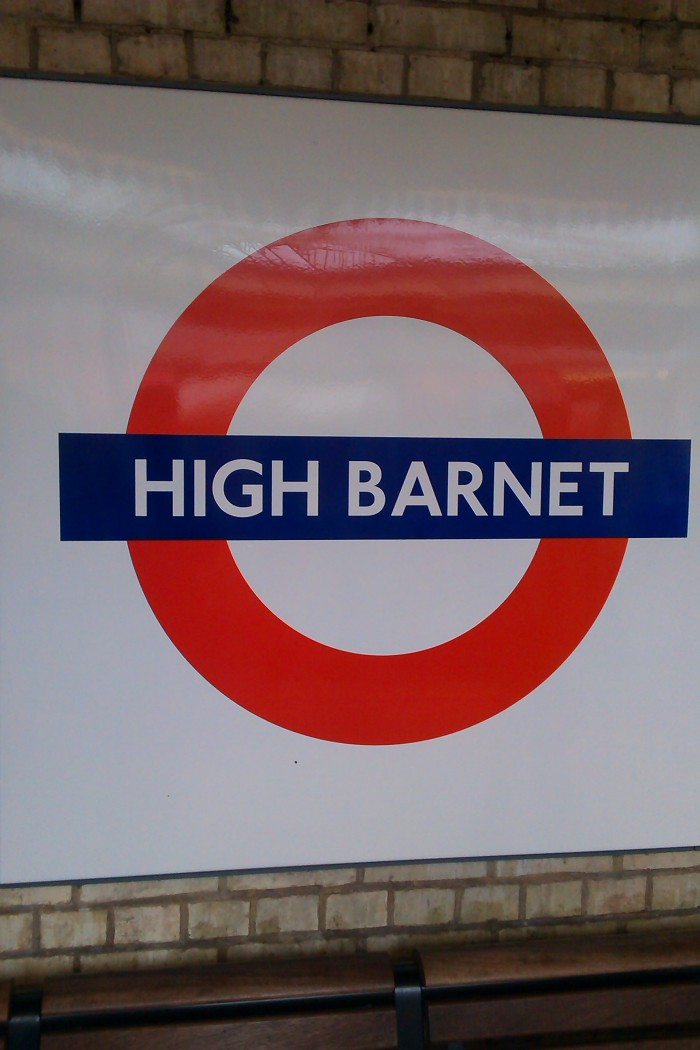 Walking the Northern Line. High Barnet, the start