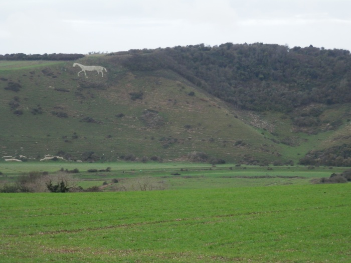 Litlington White Horse from South Downs Way