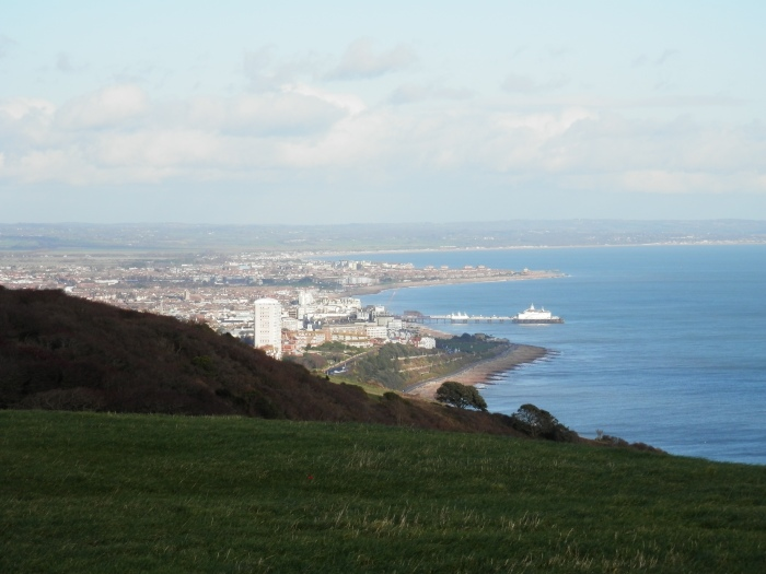 Eastbourne from Beachy Head, South Downs Way