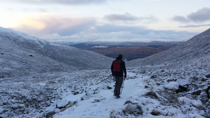 Heading back down from CIC hut Ben Nevis