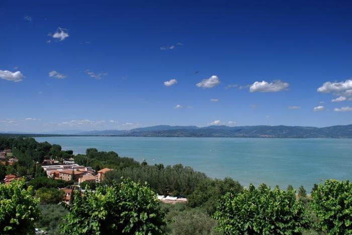 Lago Trasimeno from Castiglione del Lago, Umbria