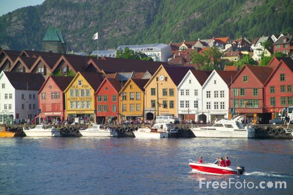 Bryggen, Bergen  - pic from FreeFoto.com