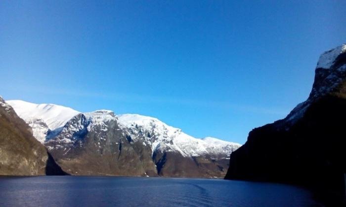 Fjord boat trip Aurlandsfjord Norway