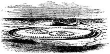 Postulated diagram of Avebury appearance - pic Wikipedia/John Martin