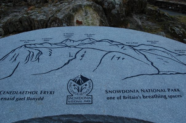 Snowdonia information board