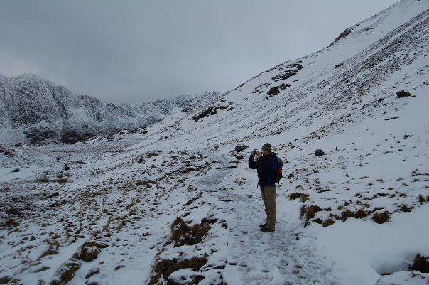 Climbing Snowdon on the Pyg track