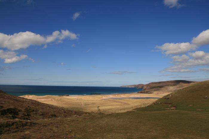 Approaching Sandwood Bay