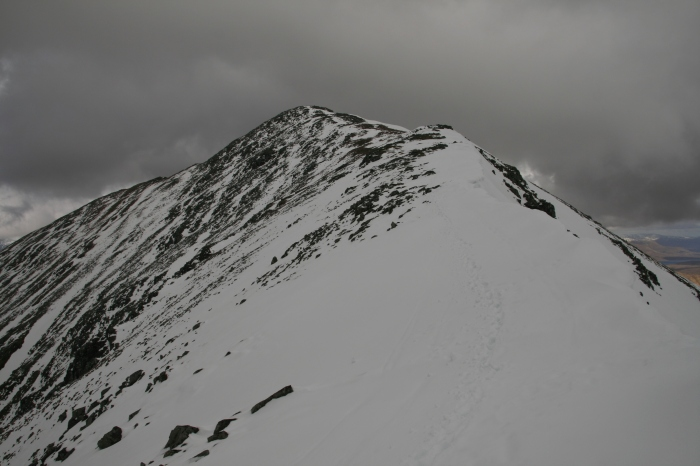 Towards the summit of Stob Coire Nan Lochan