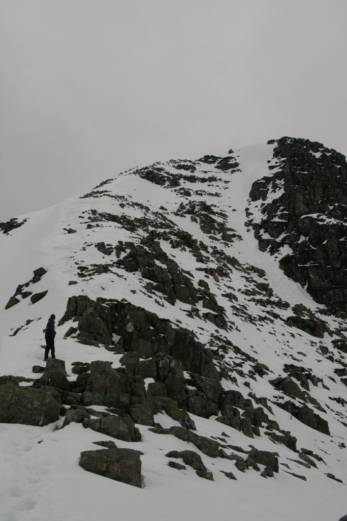 Near the summit of Stob Coire Nan Lochan, looking towards Church Door Butress and Bidean nam Bian