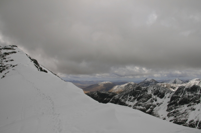 Near the summit of Stob Coire Nan Lochan