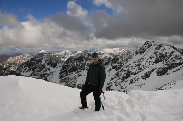 Near the summit of Stob Coire Nan Lochan, looking east.