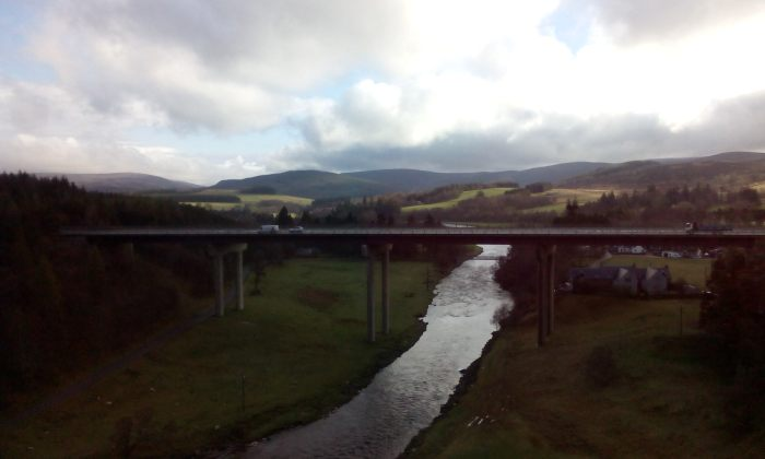 From the window of the sleeper train to Inverness