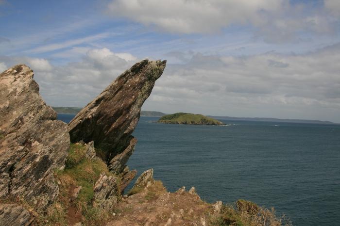 Southwest coastpath from Polperro, Cornwall