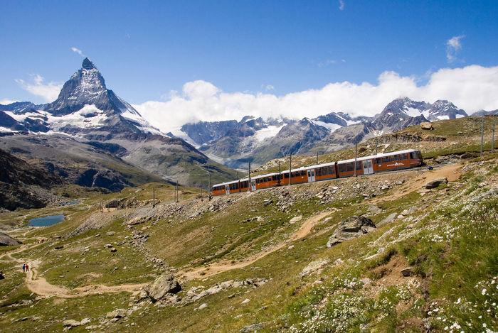 Matterhorn & Gornergrat railway in Summer - from http://www.zermatt.ch/